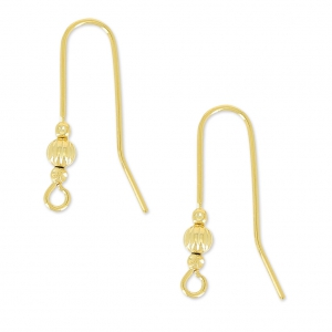 Hippy Earwires Old gold tone x2