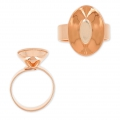 Ring base for Swarovski 4120 18x13 mm rose gold tone x1