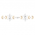Hotfix frieze rhinestones pattern 8,5x2,2 cm Crystal/Crystal Golden Shadow/Pearl