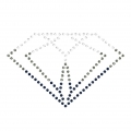 Hotfix diamond rhinestones pattern 5,7x3,6 cm Crystal/Black Diamond/Denim Blue