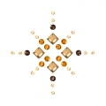 Hotfix star rhinestones pattern 3 cm Crystal Golden Shadow/Topaz/Smoked Topaz