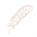 Hotfix rhinestones pattern feather 6x1,6 cm Crystal AB/Light Peach
