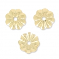 Flower beadsaucers 6mm in Gold filled 14 carats x10