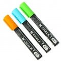 Set of 3 chalk pencils 6mm for slate and windows' glass Orange/Green/Blue