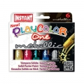 Set with 6 solid paint sticks for children Playcolor One Metallic