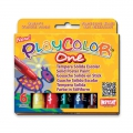 Set with 6 solid paint sticks for children Playcolor One Basic