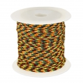 Parachute Cord 1 mm Yellow/Multicoloured x10m