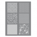 Silk Screen Graine Créative for Polymer Clay 114x153mm- Geometrical Pattern