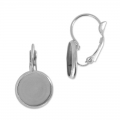 Leverback earrings for cabochon 10mm stainless steel x2