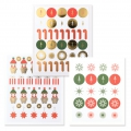 Stickers Paper Poetry Puristic Christmas Santa Claus 15 patterns x182