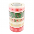 Set of adhesive tape Paper Poetry Puristic Christmas Santa Claus -5x10