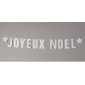 Garland to make « Joyeux Noël » golden stars x 3 meters