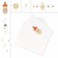 Set of cards and envelopes A6 Size Paper Poetry Puristic Christmas x 6