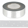 Adhesive Tape - Paper Poetry 15mm Silver Star x10m