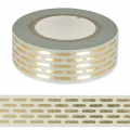 Adhesive Tape - Paper Poetry 15mm Golden Hatched x10m