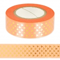 Adhesive Tape - Paper Poetry 15mm Golden Triangle /Coral x10m