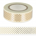 Adhesive Tape - Paper Poetry 15mm Golden Triangle/White x10m
