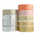Adhesive Tape - Paper Poetry 15mm Grid Golden/Pink x10m