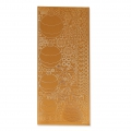 Sheet of stickers in relief Peel Off's 10x23 cm Coppery Christmas Decoration