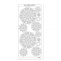 Sheet of stickers in relief Peel Off's 10x23 cm White Mandalas
