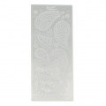Sheet of stickers in relief Peel Off's 10x23 cm Paisley Silver