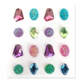 Set of 16 adhesive resin gemstones - Jewels - Multicoloured