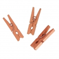 Mini Wooden Clothes Pins For House decoration 30 mm Coppery x24