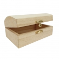 Little wooden chest to customize 12.8x8 cm Natural x1
