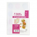 Set of 24 alimentary bags and stickers 12x18 cm Advent Calendar