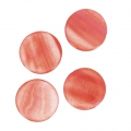 Mother-of-Pearl Round Pucks 25mm Coral x4