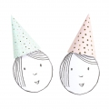 Set of 8 kids party hats 20 cm Princess