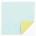 Napkins confetti pattern 33 cm Light Blue/Green/Golden x20