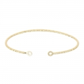 Jonc sparkling bracelet 2 rings 51x64 mm Gold plated 3 microns x1