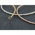 Jonc sparkling bracelet 2 rings 51x64 mm Pink Gold Plated 3 microns x1