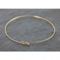 Jonc very thin Bracelet 62 mm Gold Plated 3 microns x1