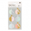 Stickers by Paper Poetry Christmas Decorations 27 mm Pastel x24