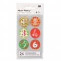 Stickers by Paper Poetry Advent calendar 28 mm Red/Green x24