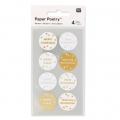 Stickers by Paper Poetry Merry Christmas 25 mm Silver/Golden x32