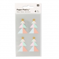Stickers by Paper Poetry Firs 43 mm Pastel/Golden x16