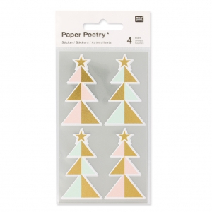 Stickers by Paper Poetry Firs 57 mm Pastel/Golden x16