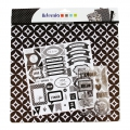 Kit pack scrapbooking Black & White paper sheets stickers and stamps