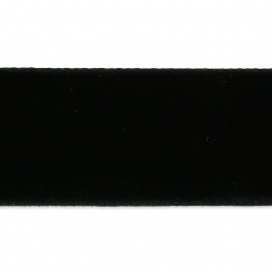 Velvet Ribbon 22 mm Black x1m