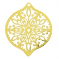 Round light drop laser cut Pendant 45x40 mm Golden x1