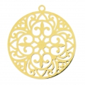 Round light laser cut Pendant 30 mm Golden x1