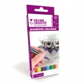 Set of 6 felt-tip markers for porcelain and ceramic 1 mm Bright colours
