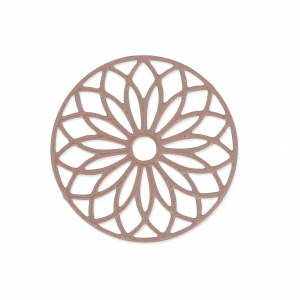 Dyed Laser cut rose spacer 24 mm Brownish-grey x1