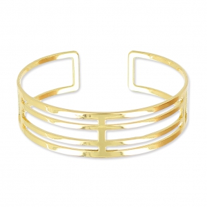 Eco openworked brass bracelet 16 mm golden x1