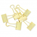 Double paperclips by Paper Poetry 25 mm golden x12