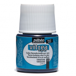Paint by Vitrea 160 Pébéo Turquoise (n°11) glossy x45ml