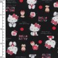 Childish Fabric by Sanrio Kiyohara - Hello Kitty Bear Dot Black x10cm 42da5c444